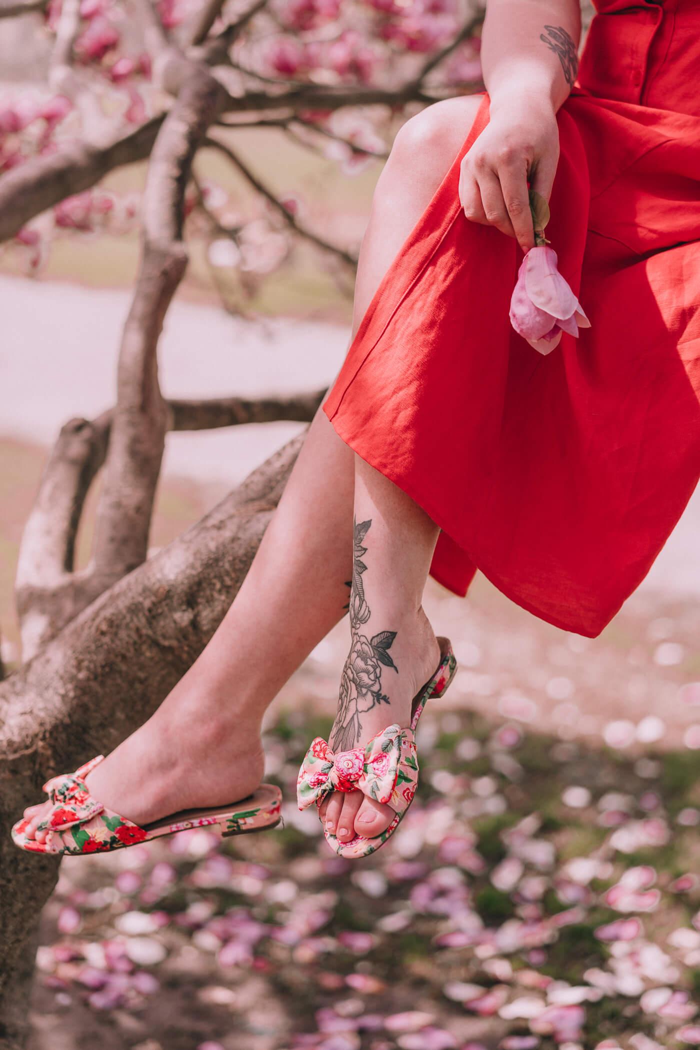 dsw floral sandals