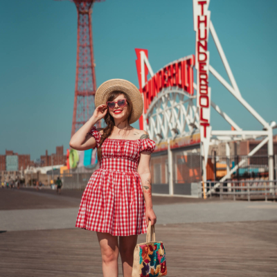 hearts and found gingham dress