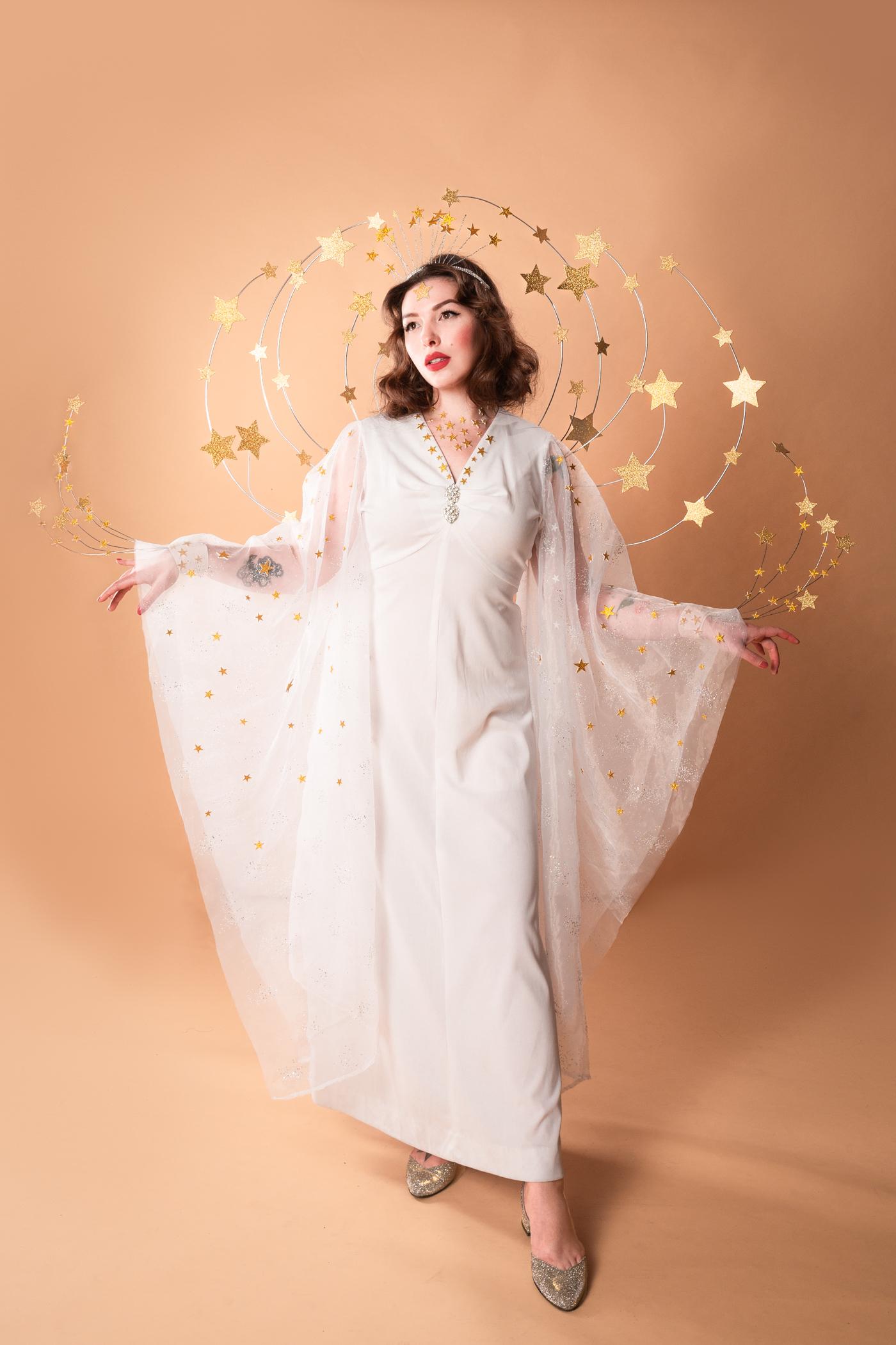 Keiko Lynn in a Ziegfeld Girl costume inspired by Hedy Lamarr