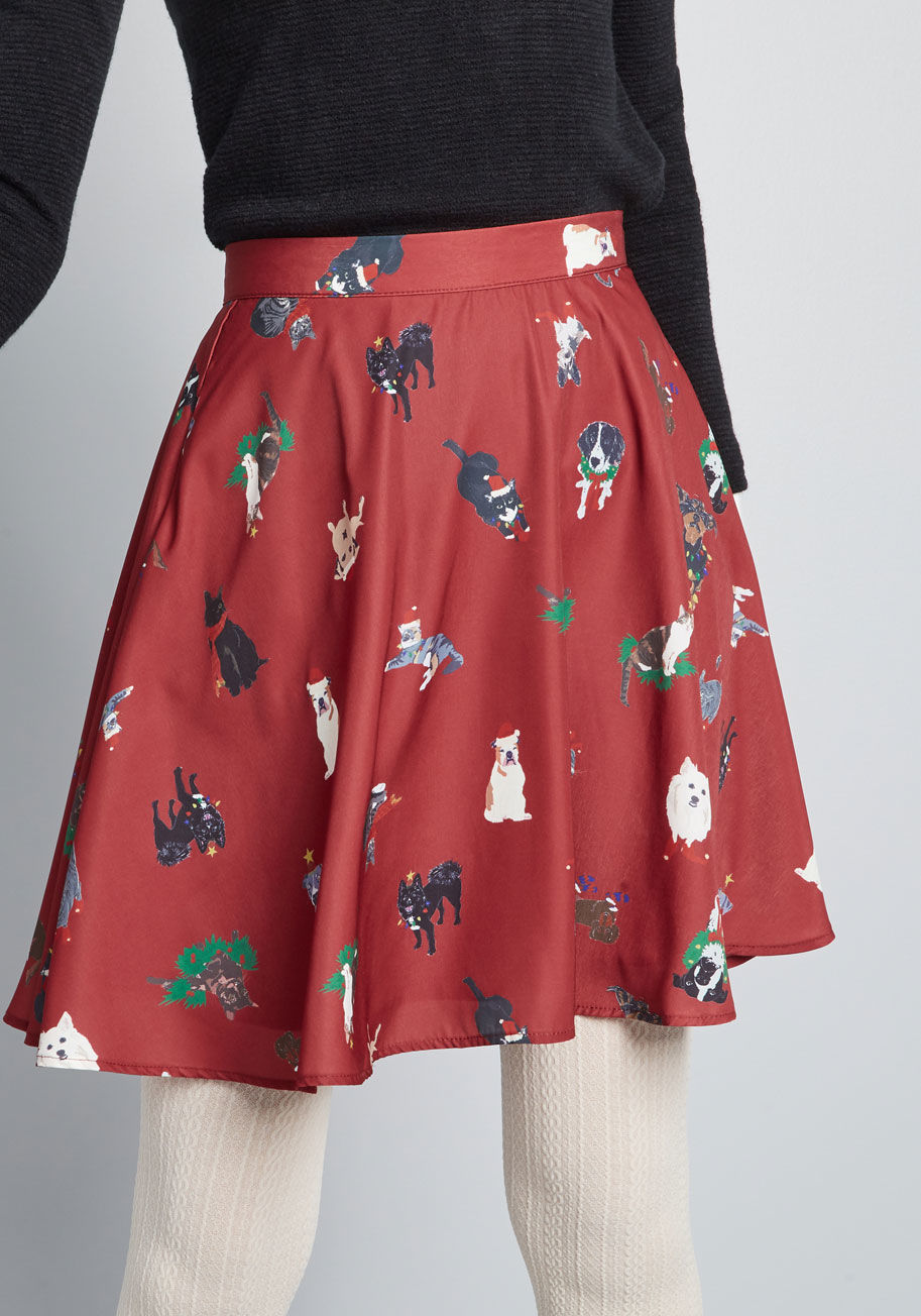 doggy holiday skirt