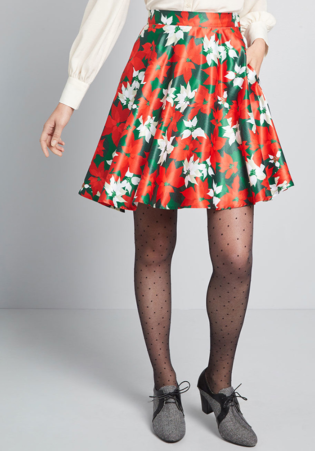 poinsettia skirt