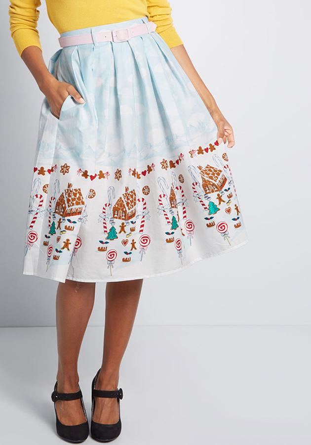 winterscape wonderland skirt