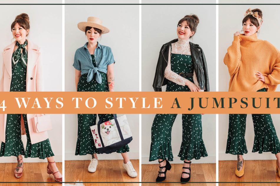 4 ways to style a jumpsuit