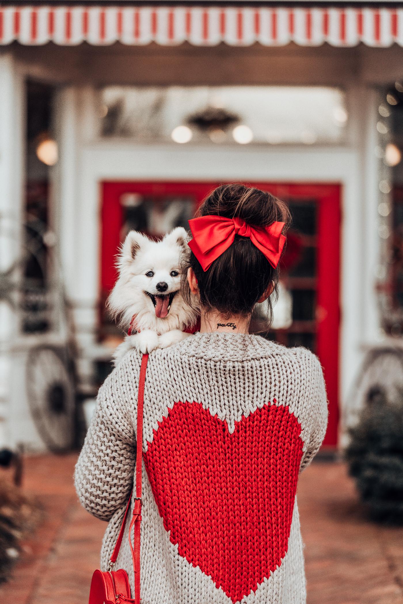 heart chunky knit sweater chicwish