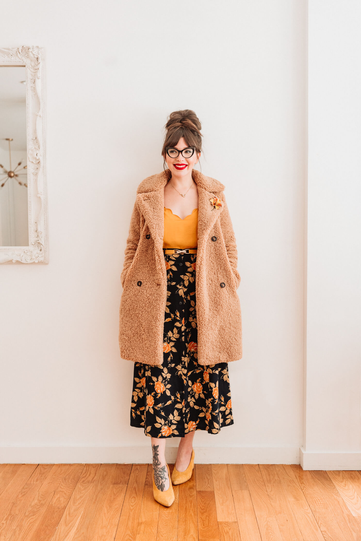4 ways to style a teddy coat