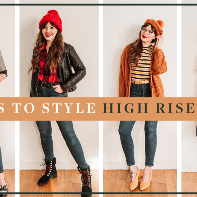 4 ways to style high rise jeans