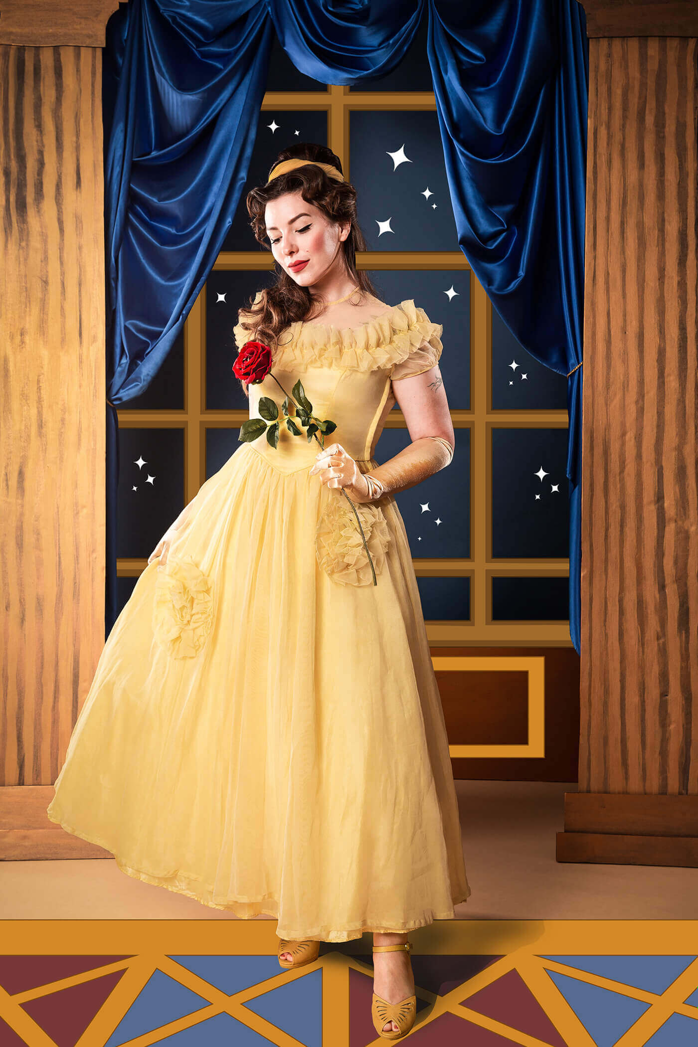 belle beauty and the best costume, princess belle costume, disney halloween costumes