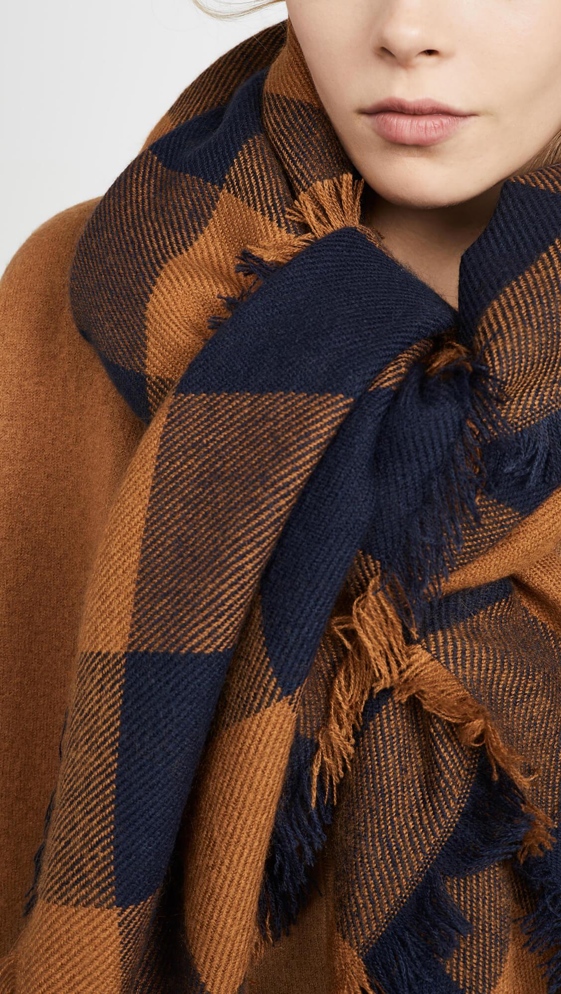 fall wardrobe update madewell buffalo check scarf