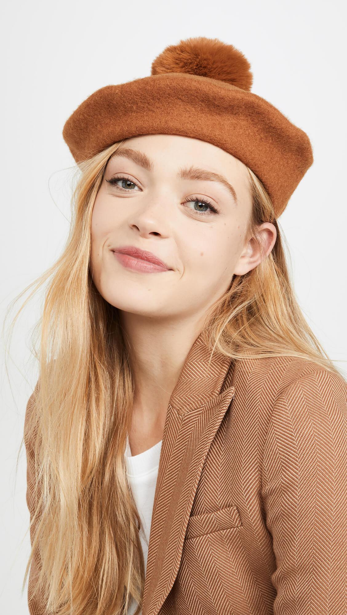 fun fall wardrobe update a beret with a pom pom